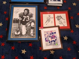 Framed NFl Posters  Signed One Is Just Print