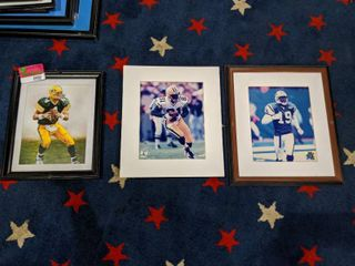 3  NFl Posters  Two Are Framed