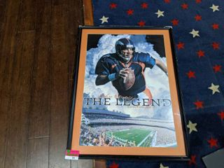 Framed John Elway Poster