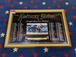 Framed Kentucky Derby Winners Decor 1875 1995