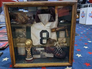 Wooden History Of Soccer Shadow Box