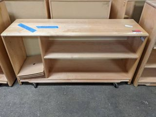 Wooden Bookshelf On Casters  30000E4132