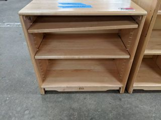 Small Wooden Bookshelf With Adjustable Shelves  30000E4131