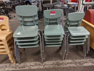 9  Assorted Sized Children s Chairs  Four Are Slightly larger Than the Rest