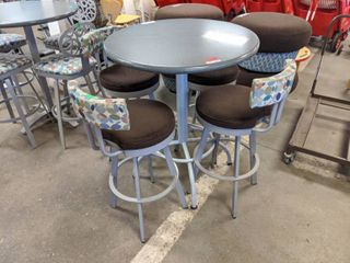 High Top Table With Four Swivel Cushioned Stools  SS 29