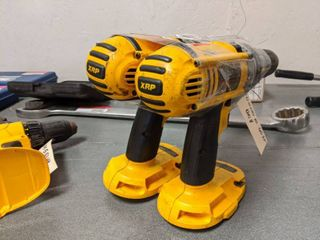 (2) DeWalt DC925 Cordless Drill/Driver/Hammer Drill XRP 1/2 Inch
