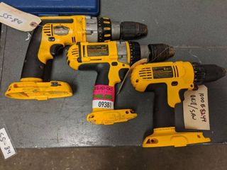 Assorted DeWalt Cordless Drills  SS 84