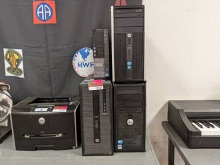 lot Of 4 Computer Towers  Dell Optiplex 7010 Windows 7 Pro OA With Intel i7 Core  HP Pro Desk 600 G1 Windows 7 OA  HP Compaq Pro 6300 MT PC Microtower Windows 7  Dell Optiplex 780 Windows Vista Business OEMAct  SS 32