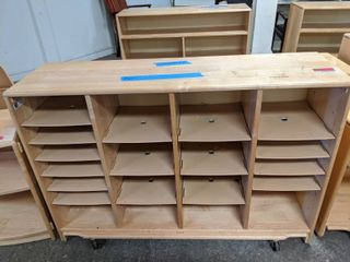 Wooden Bookshelf With Casters  3000E4133