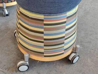 17in x 20in Fabric Rolling Stool
