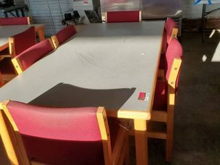 6ft x 3ft Table With 6 Chairs