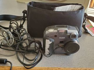 Kodak Camera With Power Cords And Case