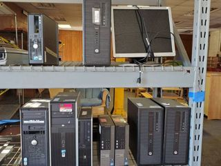 (15) HP/ Dell Computer Towers, 1 Monitor, Canon Scanner