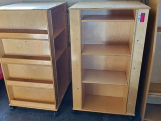 (2) Rolling Bookcases