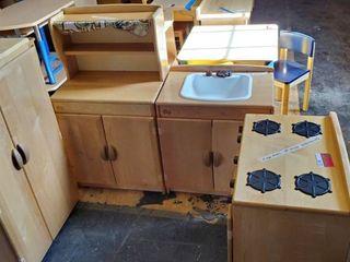 4 Piece Childrens Kitchen Set