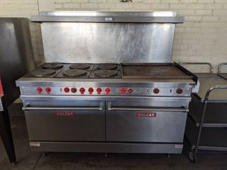 Vulcan Double Oven, 6 French Plates With Griddle Stove
