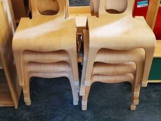 (8) Wood Kids Chairs