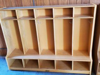 Kids Wood Storage Compartments