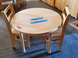 30in Wood Kids Table With 2 Chairs