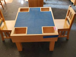 Childrens Lego Table With 2 Chairs