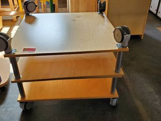 (2) Rolling Square Childrens Tables