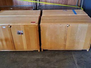 (4) Wood Storage Cabinets