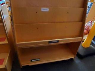 Wood Bookcase On Wheels