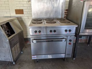 Vulcan Electric Range with 6 Burners and Oven EV36S-Y3A