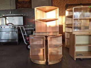 (3) Wooden Corner Shelves