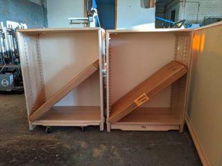 (2) Wooden Bookshelves, With Adjustable Shelves