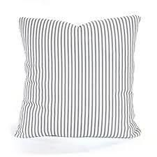 white and blue striped cushions