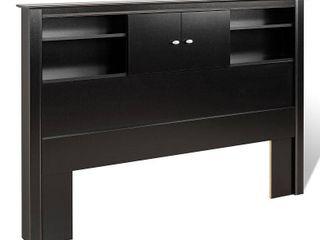 Prepac Black Kallisto Bookcase Headboard only with Doors