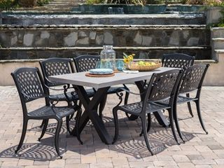 Capri Outdoor chairs only set of 2 antique matte black