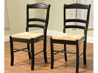 Simple living Paloma Wooden Dining Chairs  Set of 2  Retail 136 49