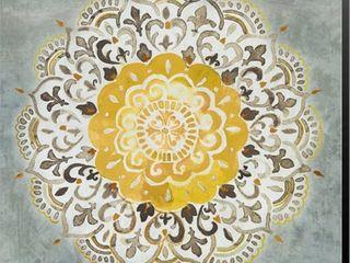 Danhui Nai  Mandala Delight IV Yellow Grey  Canvas Art