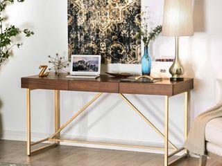 Furniture of America Vaiz Contemporary Walnut 60 inch 2 drawer Desk  Retail 566 99