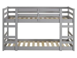 Twin Twin Solid Wood Bunk Bed   Grey