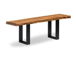 Alpine Natural live Edge 48  Bench  Natural  Retail 269 49