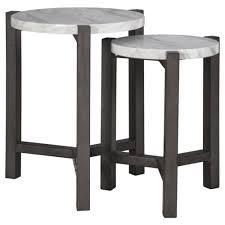 Silver Orchid Bronson Accent Table  Set of 2    Table small  15 75  W x 15 75  D x 20 88  H  Retail 122 99