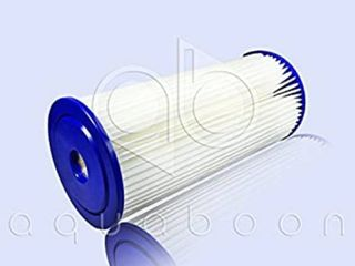 Aquaboon 1 Micron 10  Big Blue Pleated Sediment Water Filter Replacement Cartridge   Whole House Sediment Filtration   Compatible with FXHSC  ECP5 BB  FM BB 10 5  CP5 BBS  255490 43  HDC3001  3 Pack