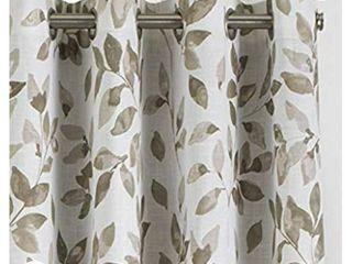 Elrene Home Fashions Avalon Botanical Floral leaf Print Blackout Window Curtain Panel  52  x 84