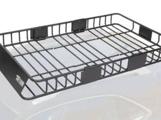 Universal Black Roof Rack Cargo with Extension Car Top luggage Holder Carrier Basket SUV Storage