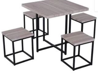 Porch   Den Penn Wood  Steel Compact 5 piece Dining Table Set Retail 159 99