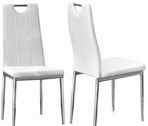 Set of 2 White  Best Master dinning room chairs