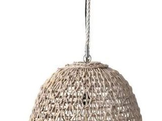 East at Main Ensley Open Weave woven Pendant   White Wash   20x20x17   20  x 20  x 17  Retail 178 99