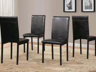 Set of 4 Black Citico Dinette Chairs