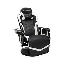 Racing Style Gaming Recliner Chair White   RESPAWN
