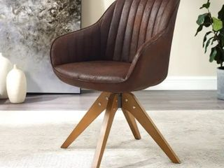 Art leon Classical Swivel Office Accent Arm Chair with Wood legs  Retail 183 49