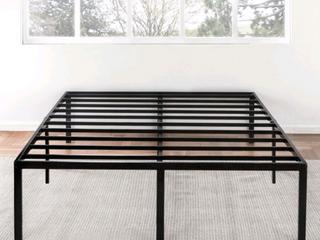 18  Black Tall Metal Platform bed with Slats