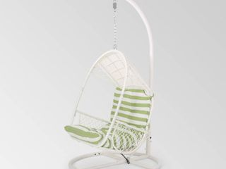 Malia Wicker Hanging Chair with Stand by Christopher Knight Home Retail 461 99